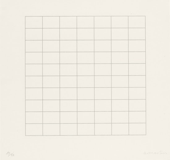 On a Clear Day, 1973, by Agnes Martin..jpeg