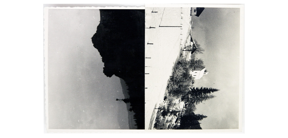 Helen Smith, Reunification series # 61, Photographic collage, 11 x 8cm